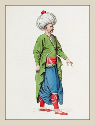 Inferior Officer costume. Ottoman Empire Elite army. Turkey Military uniforms.