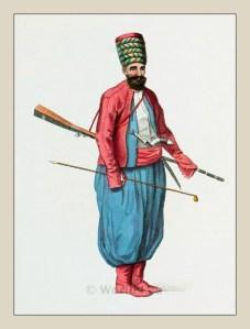 Spahi. Turkish cavalry. Ottoman empire historical clothing