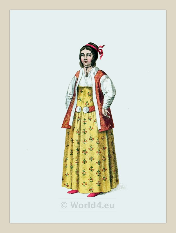 Amazing Turkish Noble Lady 1843 Ottoman Empire Costumes Archive  Costume
