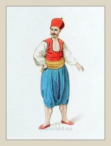 Greek sailor costume. Turkish Sultan.Ottoman empire historical clothing