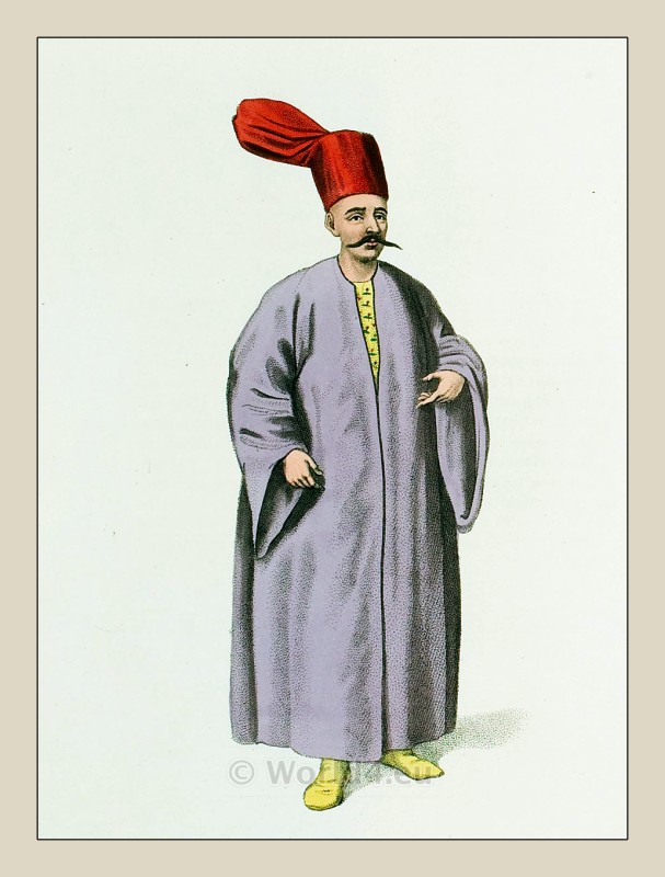 Bostancı başı costume, official Sublime Gate. Ottoman empire historical clothing.