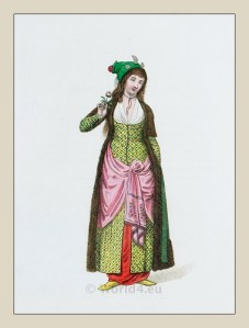 Sultana costume. Imperial Harem. Ottoman empire historical clothing.