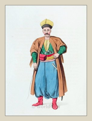 Tartar. Historical Turkish costumes. Historical Ottoman empire costumes. Turkey Military.