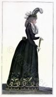 Fashion history. Revolution costumes.
