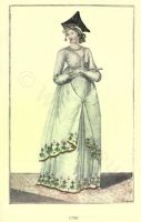 French revolution costumes. French fashion in Directoire style. Women`s 18th century empire fashion. Merveilleuses Costumes.