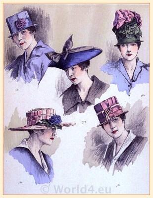 Chapeaux Modèls de Evelyne Varon. Fin de siècle hat fashion. Belle Epoque hats