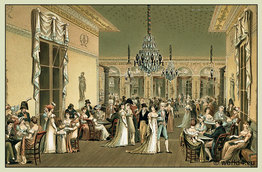 The salons of paris 1786 1789 costume history - Salon de chat francais ...