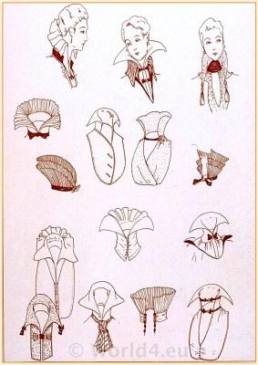 French Fin de siècle lingerie fashion. Belle Epoque costumes. 1910s clothing