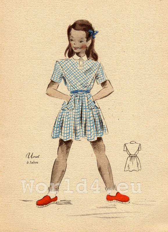 German Girls fashion. Child and Teen costumes 1940s ...