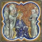 Charlemagne the Great. Carolingian costumes. medieval clothing