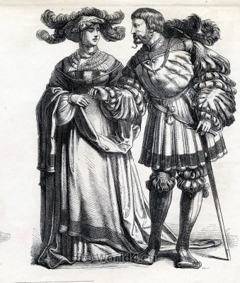 Middle Ages Dresses. Renaissance Fashion. 16th century clothing.