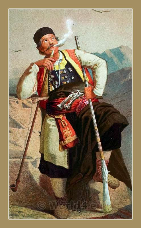 CRNOGORAC, Montenegro, traditional, national costumes, Balkans, Dalmatia, Serbian