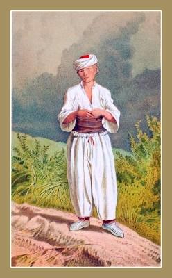 Traditional Serbian National Costumes. Folk Costumes from Vrlika Croatia. MUŠKA NOŠNJA SA TURSKE GRANICE KOD VRLIKE