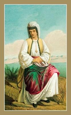 Traditional Montenegro national costumes. Narodne nošnje Crne Gore.