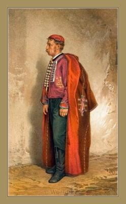 Traditional Serbian National Costumes. Folk Costume from the Croatian island of Pag. PAŽANIN U SVETAČNOM ODIJELU