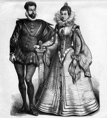 Spanish Renaissance costumes. Spanish fashion and court dress. Costume Design ideas and research
