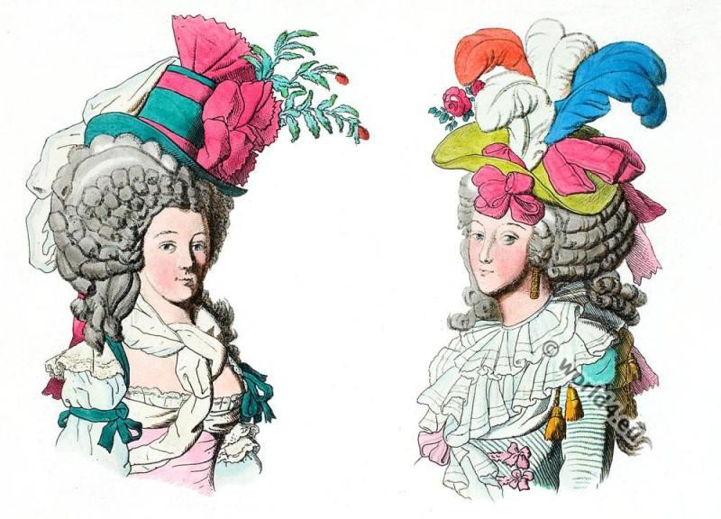 Coiffures, redoute, France, Revolution, Headdresses, fashion