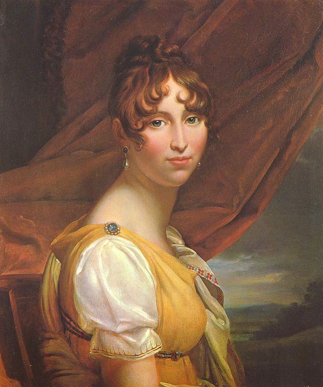 Hortense de Beauharnais. Regency fashion. French empire costume