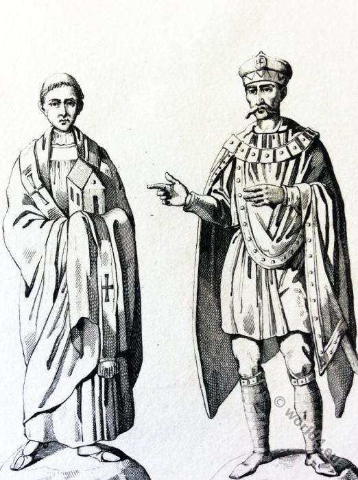 Pope, Leo I, Charlemagne, Carolingian, Byzantine, costumes,fashion,Karl der Große, Karolinger