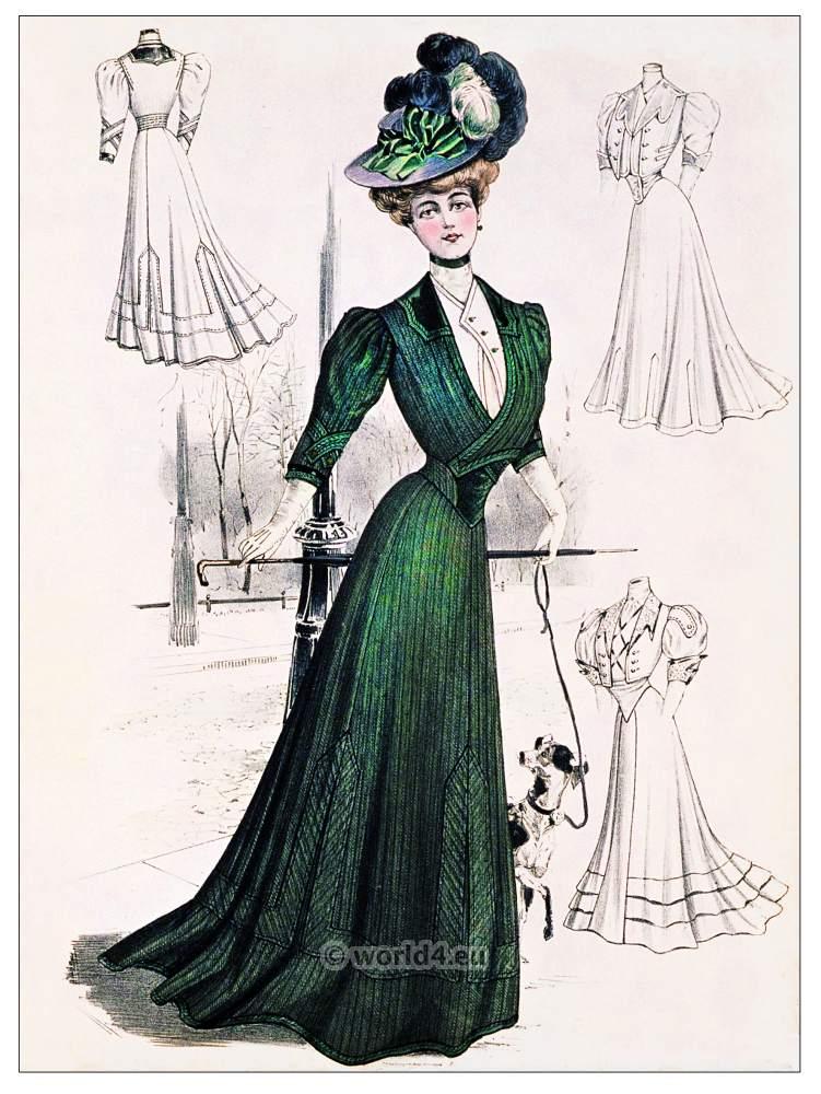 Belle Epoque, Autumn costume, Art nouveau, fashion