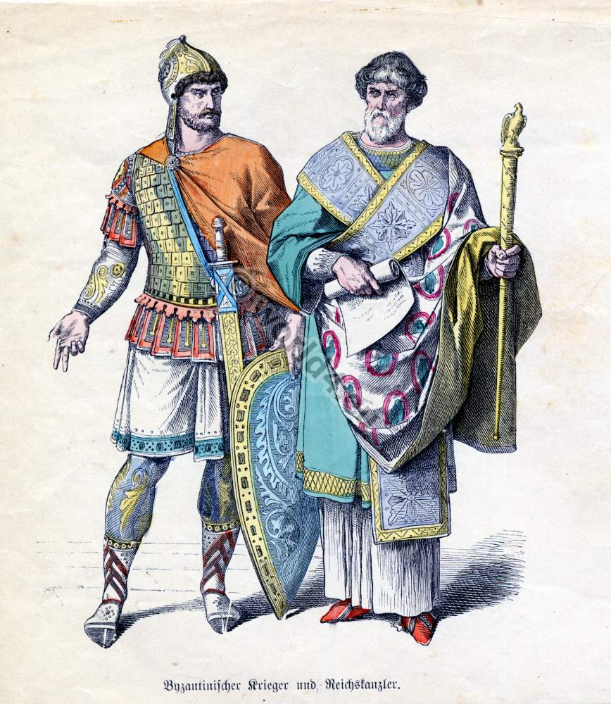 Ancient Roman Clothing For Men: Byzantine Costume History. 5th To 6th Century.