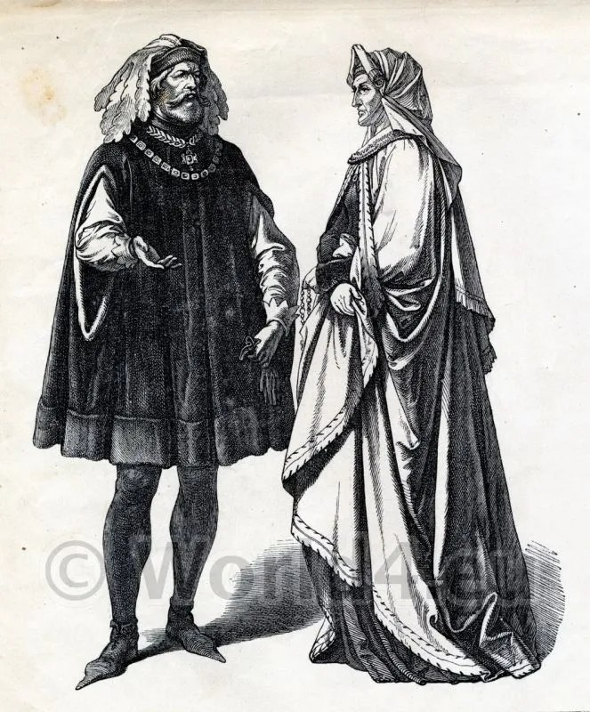 15th century, costumes, Middle Ages, clothing,
