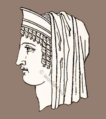 Ancient Greek headdresses, grecian hair styles and headdress. ancient greece clothing, greek costume