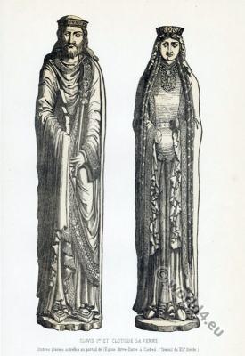 Clovis, Chlodowech, Chlodwig, Chlodovech, Clotilde. 5th century, Merovingian, Chlodowig, Frankish king