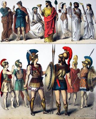 Ancient Hoplites greek soldiers Costumes and armor