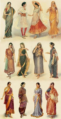 Different types of Indian sari. How to wear an Indian Sari? The method of draping.