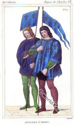 Officers of Arms, Heralds or Weapons Officers. Middle ages costume history.