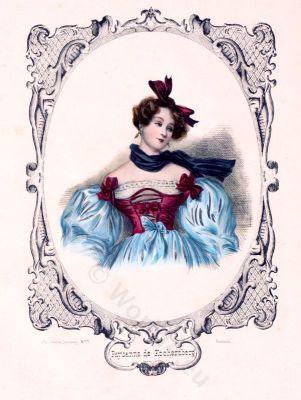 French Empire costumes. Biedermeier fashion.