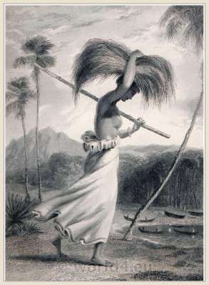 Female Peasant. Ceylon, 18th century. Sinhalese Sri Lanka traditional costumes