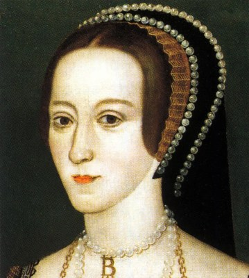 Anne Boleyn. Queen of England. Tudor era. Renaissance fashion portrait