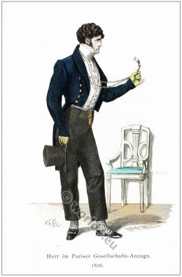 French empire period mens dress and fashion