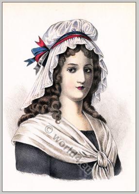 Charlotte Corday. 18th century costumes. French revolution fashion