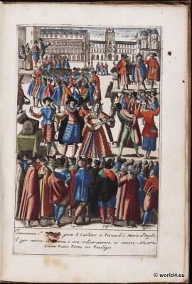 Venice fashion. Italy renaissance. 16th century costumes.