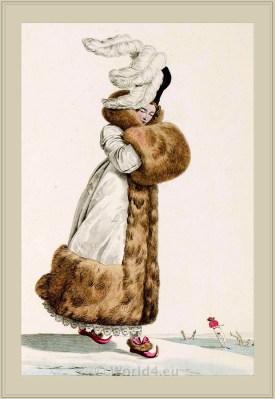 Merveilleuses Costume Toque de Velours. France directoire, regency era fashion. Horace Vernet.