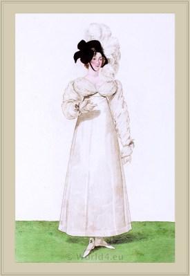 Merveilleuses. Neoclassical fashion. 18th century costume. Regency fashion.