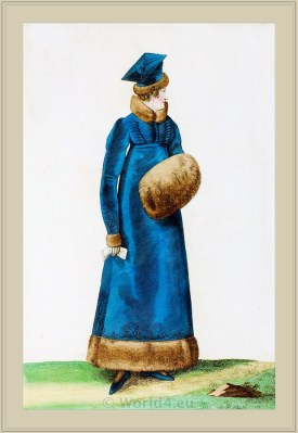 Costume Toque Polonaise. Merveilleuses. France directoire, regency era fashion. Horace Vernet.