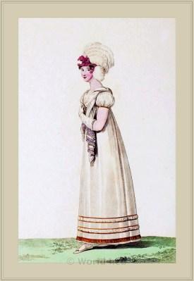 Costume Toilette de Spectacle. Merveilleuses. France directoire, regency era fashion.