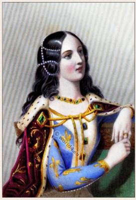 Isabelle de Valois, noble, edieval, Burgundy, costume, Middle ages,