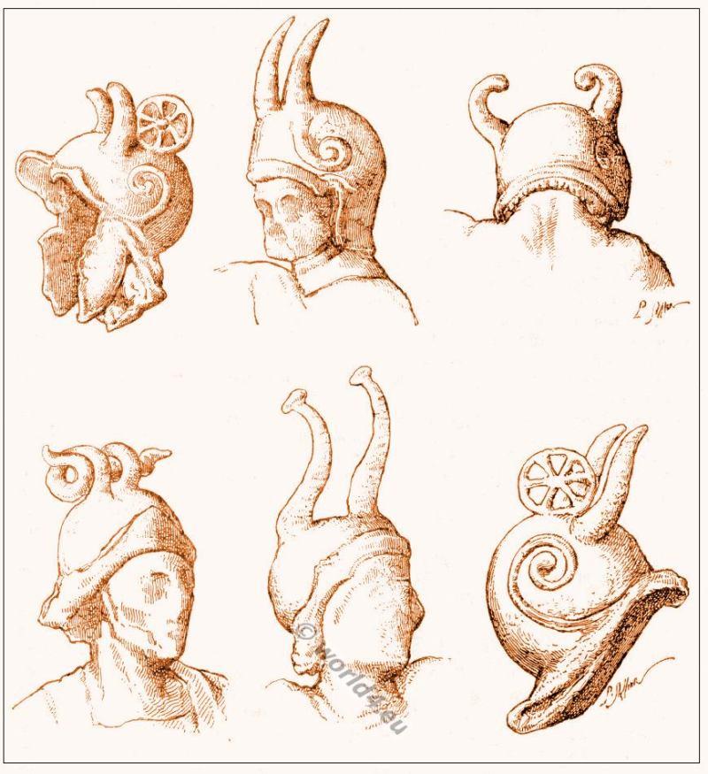 Gallic, Gallo-Roman, helmets, Gauls, Soldiers, Horned helmets, Celtic Cernunnos