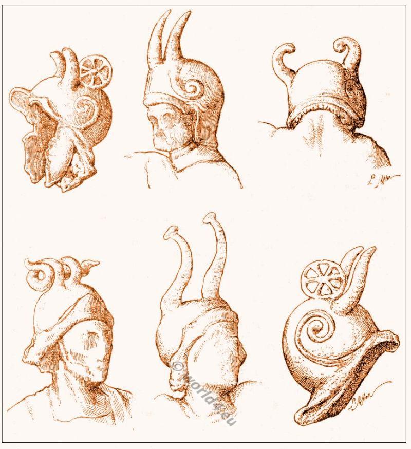 Gallic, Costume, History, helmets