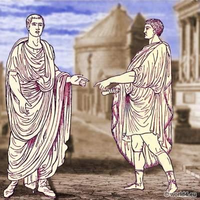 Roman, costume, history, Senator, toga, Emperor