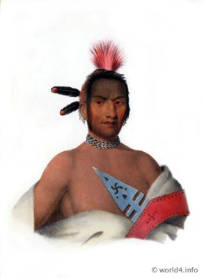 lowa Chief, Natives, Native, America, Tribes, Indian, costumes