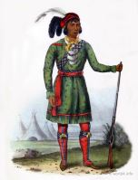 ASSEOLA a Seminole Leader. Indigenous American peoples. Native Americans costumes.