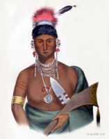 AP-PA-NOO-SE a Saukie Chief. Indigenous American peoples. Native Americans costumes.