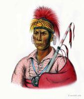 TAH-RO-HON an Iowa Warrior. Indigenous American peoples. Native Americans costumes.