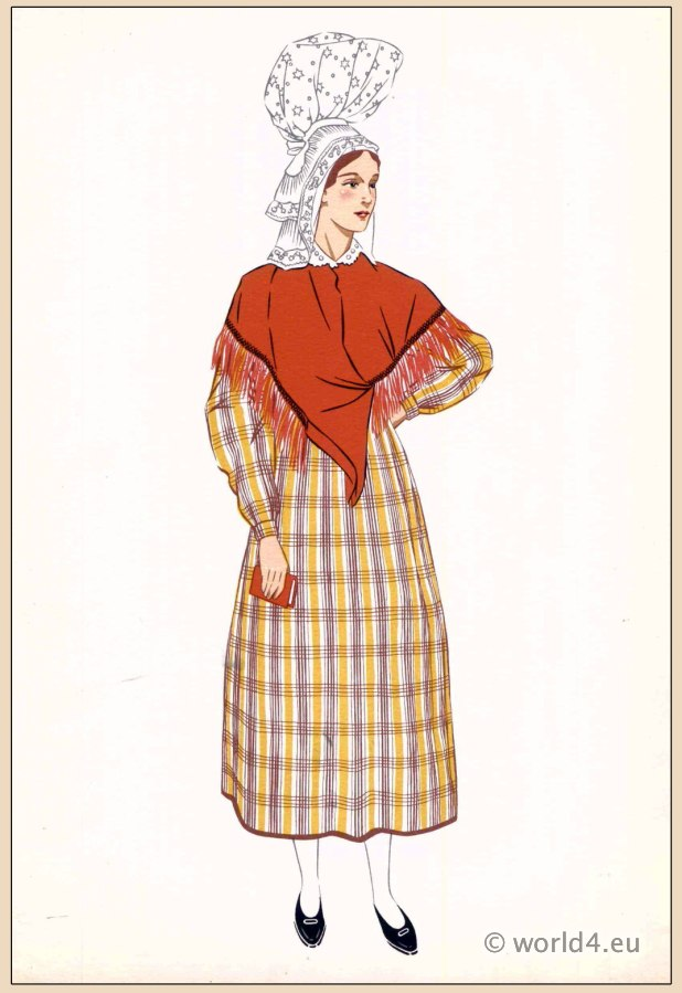 Avranches, traditional, French, France, national, costumes, dress, folk, clothing